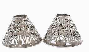 Japanese Sterling Silver Lamp Shade Iris Arthur & Bond. Yokohama