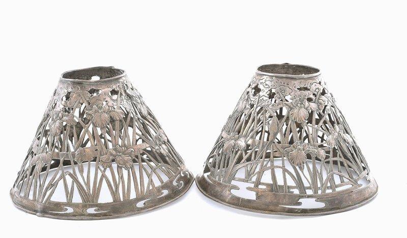 Japanese Sterling Silver Lamp Shade Iris Arthur & Bond. Yokohama
