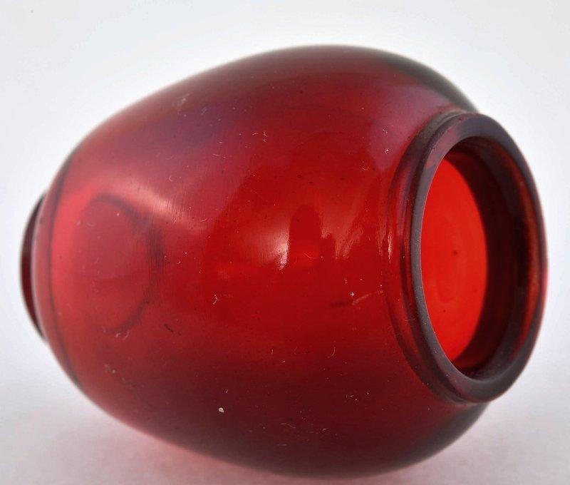 19C Chinese Ruby Red Peking Glass Snuff Bottle