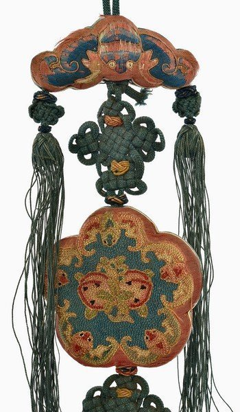19C Chinese Silk Embroidery Forbidden Stitch Perfume Pouch Purse