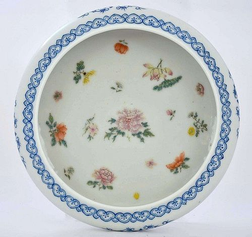 Old Chinese Famille Rose Porcelain Flower Bowl