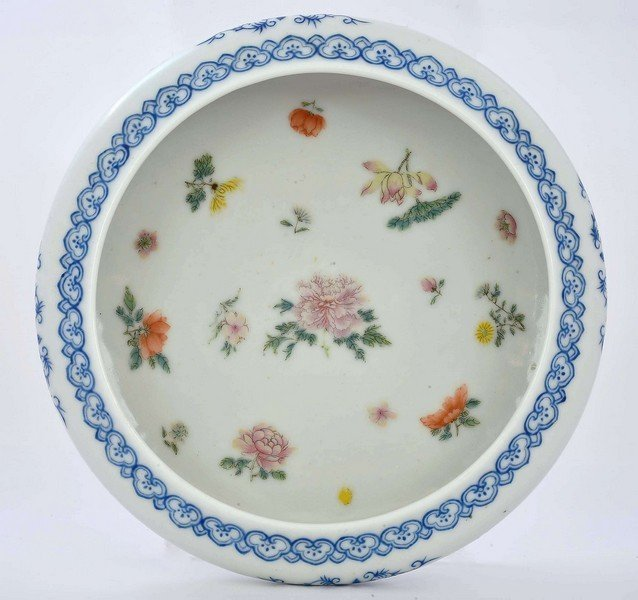 Old Chinese Famille Rose Porcelain Flower Bowl