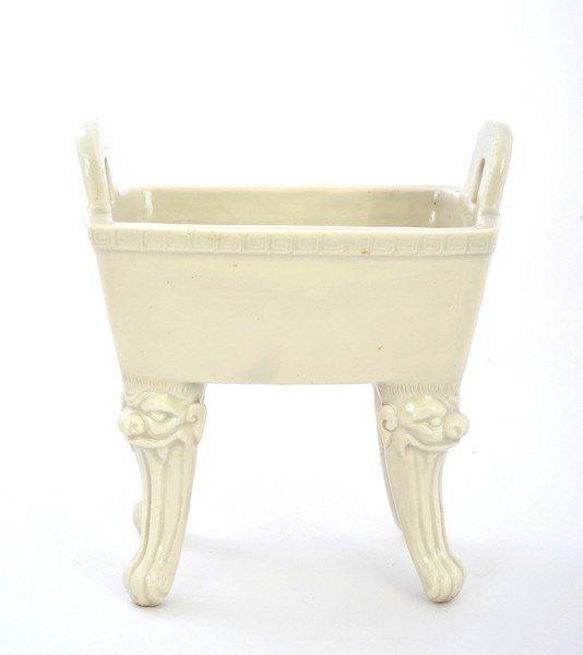 19C Chinese Blanc De Chine Dehua Incense Burner Censer Mk