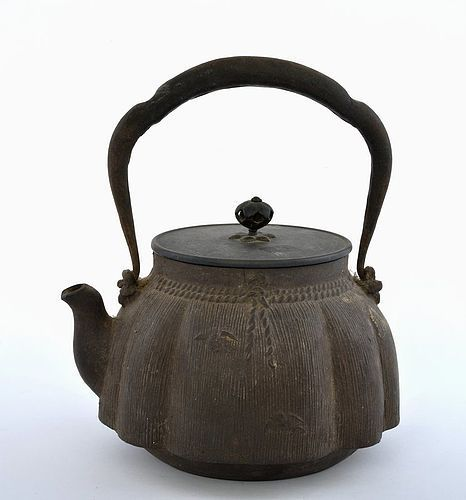 Japanese Cast Iron kettle Teapot Tetsubin Ryubundou Sg ( KINRYU-DO)