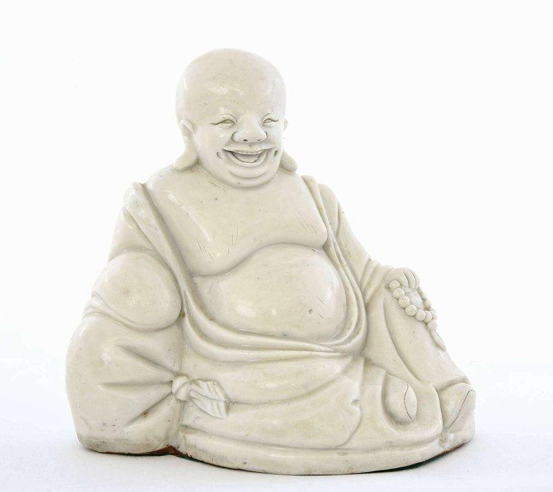 18C Chinese Blanc De Chine Dehua Happy Buddha Figure Figurine