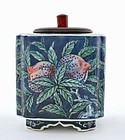 Old Japanese Studio Tea Caddy Marked