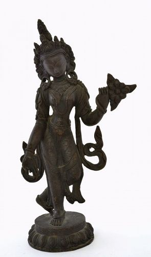 19C Chinese Tibetan Bronze Buddha Dancing Tara Goddess