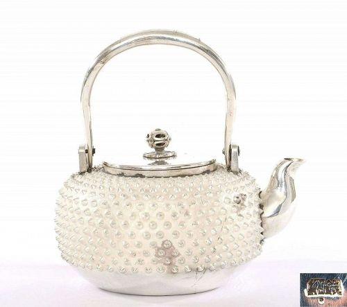 Japanese Silver Sterling Teapot Mk