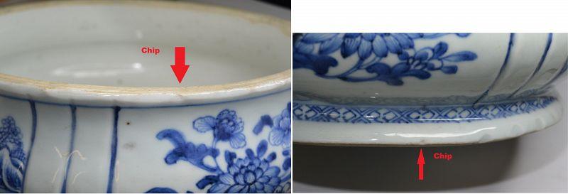 18C Chinese Blue & White Porcelain Censer Incense Burner Pot