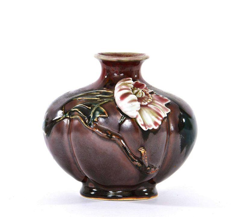 Japanese Sumida Gawa Flower Vase