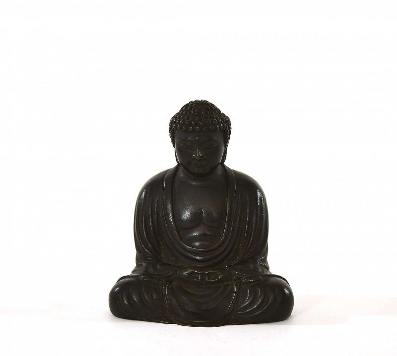 1930's Japanese Bronze Seated Amita Buddha