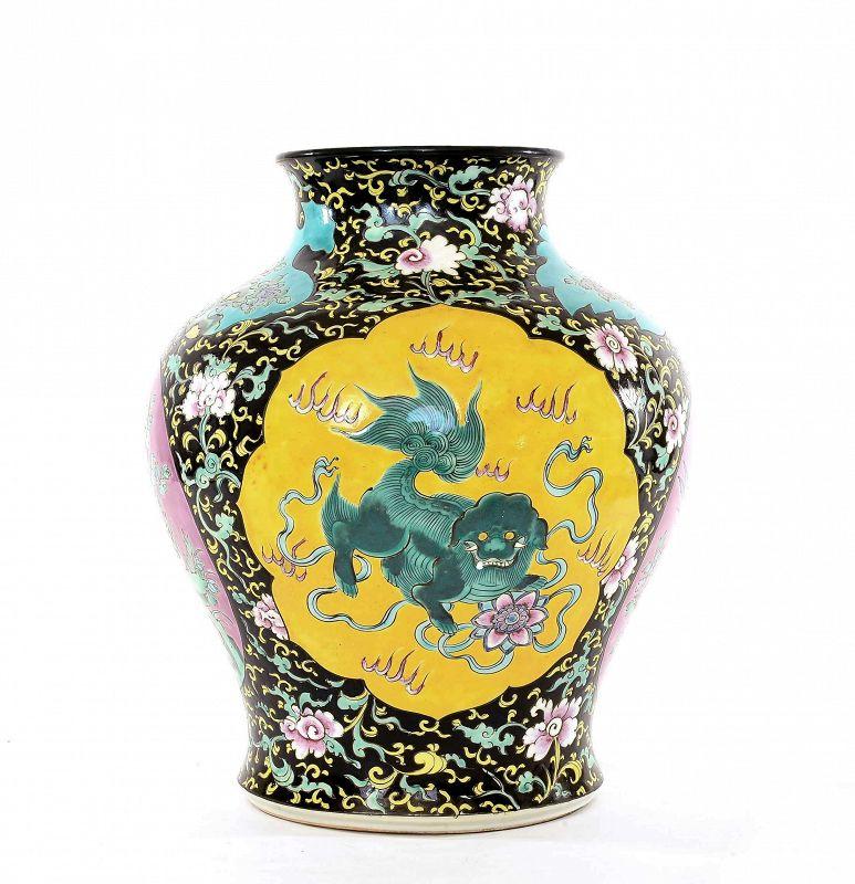 1900's Chinese Nonya Nyonya Peranakan Famille Rose Porcelain Vase Jar
