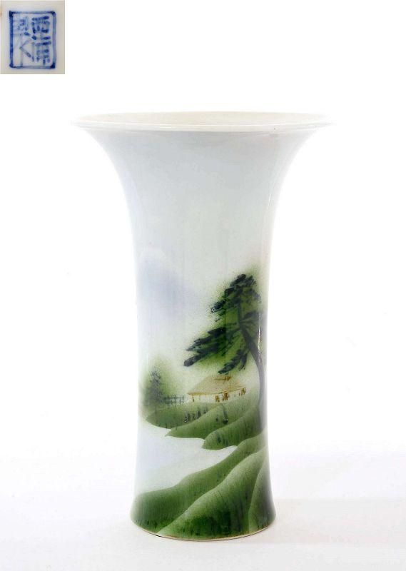 1920's Japanese Nishiura Studio Porcelain Vase Sg