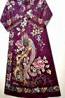 1900's Chinese Silk Embroidery Phoenix Purple Ladies Robe