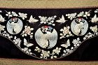 1900's Chinese Silk Embroidery Crane Butterfly Flower Panel Tapestry