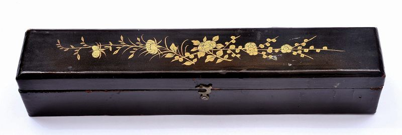 Chinese Bovine Water Buffalo Bone Carved Silk Embroidery Fan Dragon
