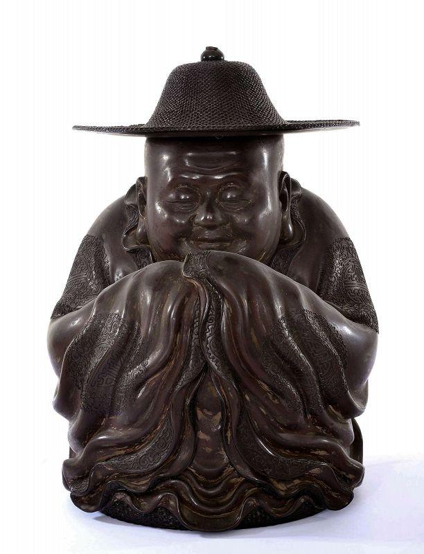 1930's Chinese Fuzhou Fujian Foochow Lacquer Buddha Figure