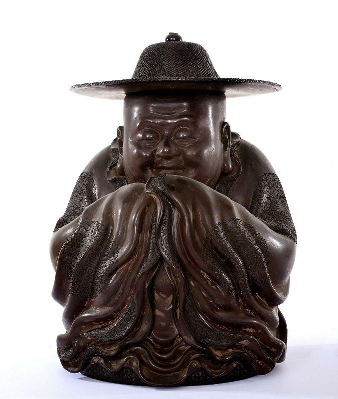 1930's Chinese Fuzhou Fujian Foochow Lacquer Buddha Hat