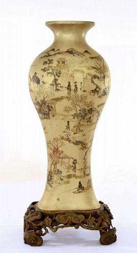 Old Chinese Foochow Foo Chow Fuzhou Fujian Lacquer Vase