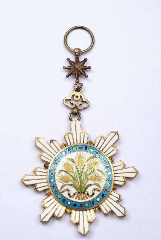 Chinese WWI Warlord Medal Order of the Golden Grain 6th Class
