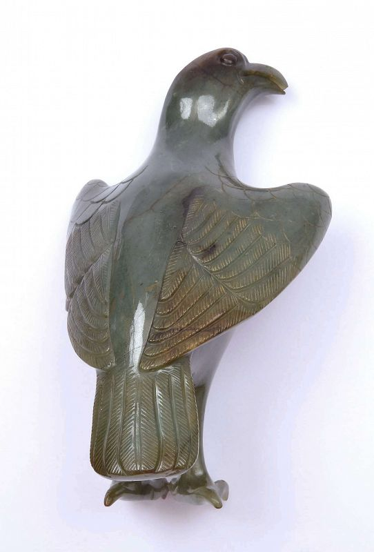 Old Chinese Jade Jadeite Carved Carving Eagle Bird