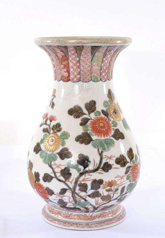 Meiji Japanese Imari Porcelain Flower Vase