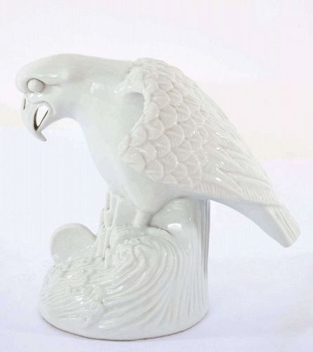 Old Chinese Blanc De Chine Dehua Porcelain Eagle Bird