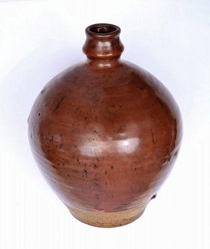 Chinese Song Cizhou Brown Glazed Pottery Bottle Vase