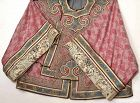 Chinese Pink Silk Embroidery Forbidden Stitch Lady's Robe Figure