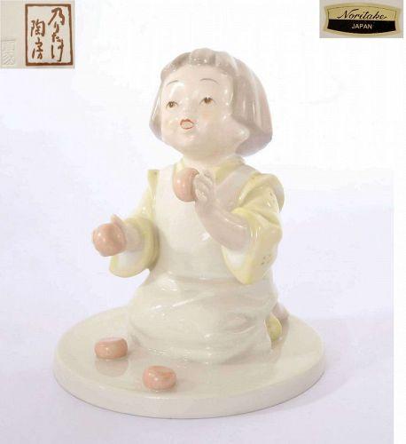 Rare Vintage Noritake Girl Figure Figurine Marked