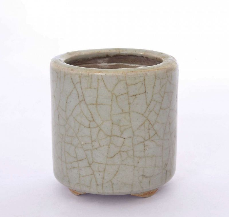 17C Chinese Crackle Ge Type Glaze Porcelain Censer Incense Burner