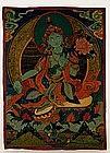 19C Tibetan Thanka Thangka Tangka Painting 2