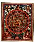 Late 19th Century Tibetan Thanka Buddha #1