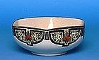 Old Japanese Export American Satsuma Hexagon Bowl