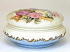Antique Limoge Limoges Roses Powder Box w Gold