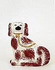 Antique Staffordshire Spaniel Dog Figure