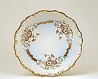 Antique French Limoge Limoges Plate w Relief & Flower