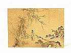 Old Japanese Brush Painting w Scholar