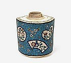 Old Japanese Totai Satsuma Cloisonne Tea Caddy