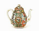 19C Chinese Export Rose Medallion Teapot