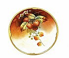 Old Pickard Limoges Berry Plate Signed Fritz