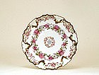 Antique French Hand Painted Limoges Plate Flower Sg