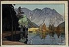 Old Japanese Woodblock Print Yoshida Hodakayama