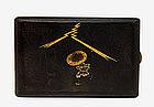 Japanese Mixed Metal Cigarette Case Komai Sty Samurai