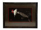 Old Japanese Woodblock Print Kaoru Kawano Rooster