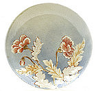 Old Japanese Imari Relief Moriage Flower Charger