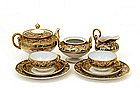9 Old Japanese Nippon Flower Tea Set Teapot