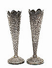 Pair of 19th Century India Indian Persian Silver Vase