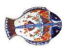 Old Japanese Imari Double Fish Plate Mk