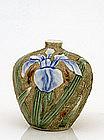 Old Japanese Imari Studio Moriage Iris Flower Vase Sg